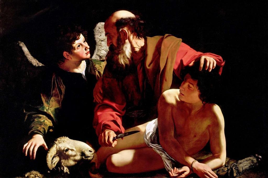 """""""Il sacrificio di Isacco"""" di Caravaggio (1571-1610)"""