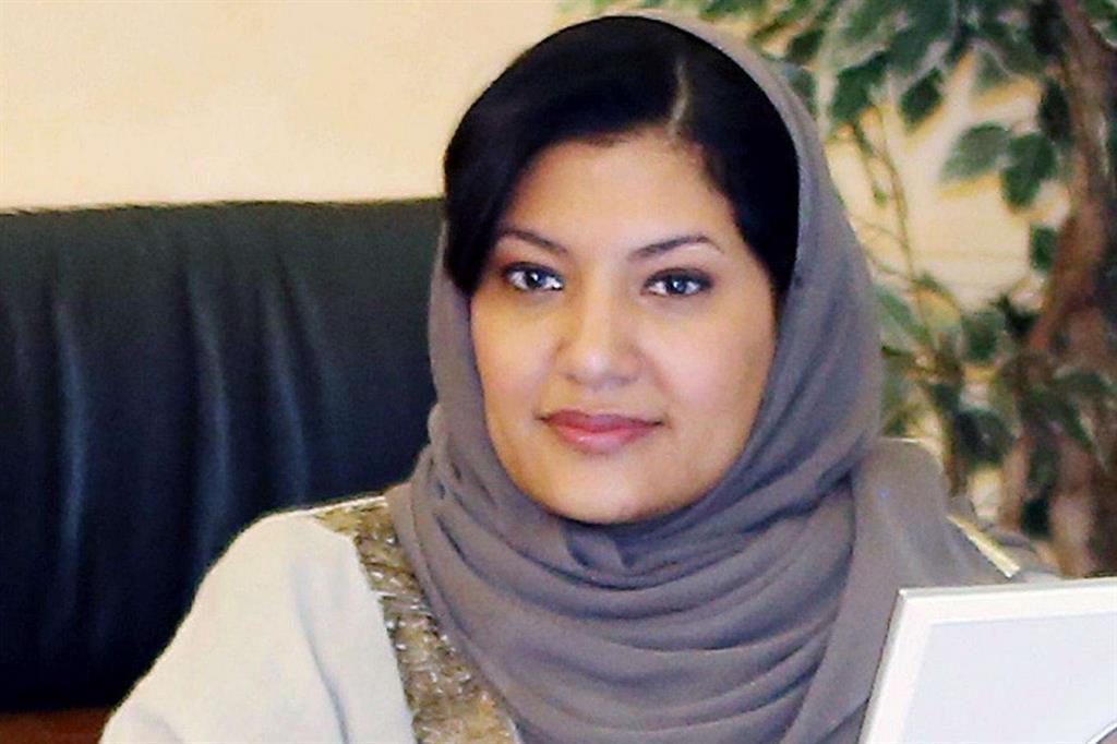 La nuova ambasciatrice saudita negli Usa, principessa Reema bint Bandar Al Saud (Ansa)