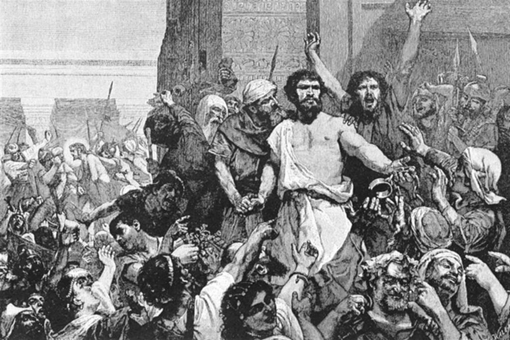 Barabba in un'incisione ottocentesca