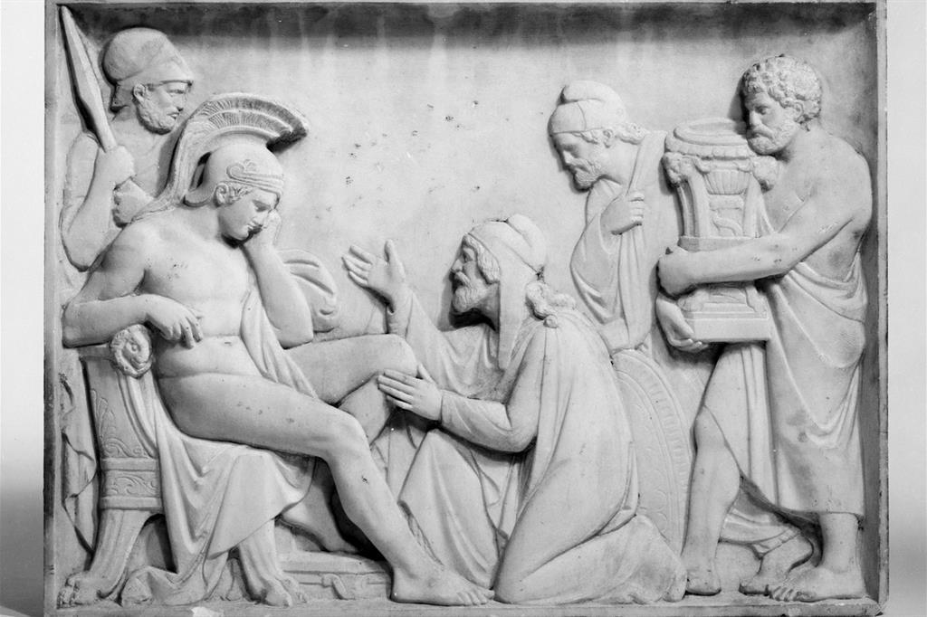 """Giovanni Maria Benzoni (XIX secolo), """"Priamo chiede ad Achille il corpo di Ettore"""". New York, Metropolitan Museum (Creative Commons)"""