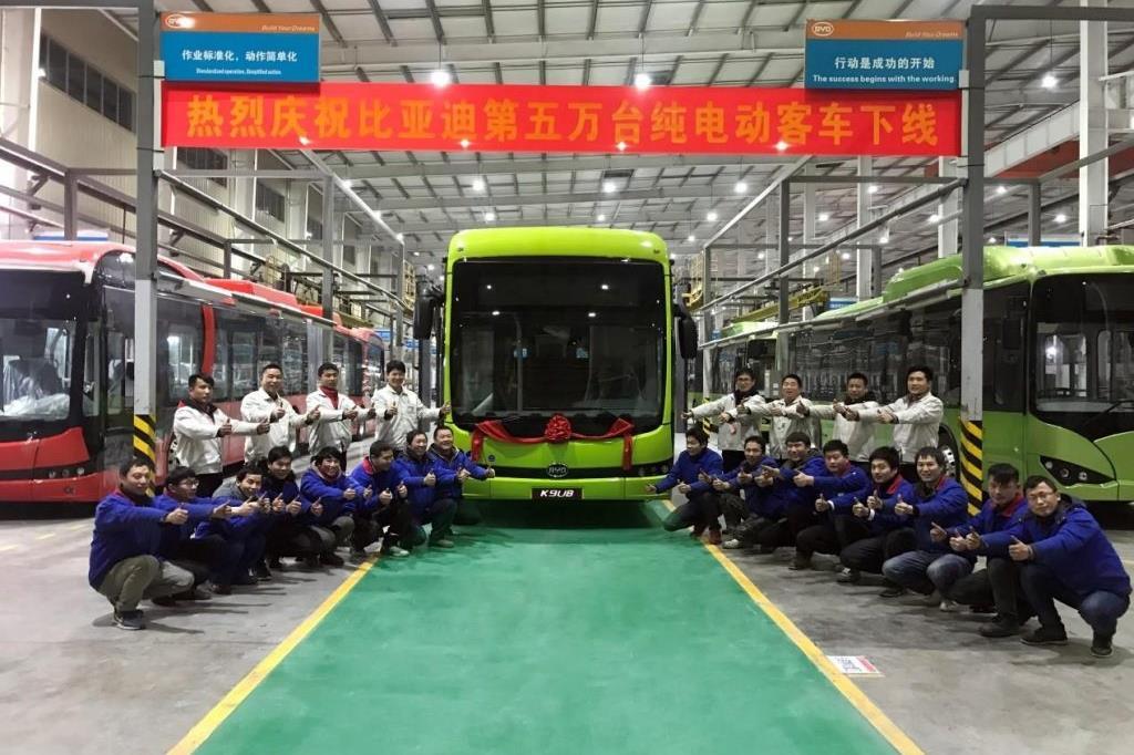 BYD, 50mila bus elettrici