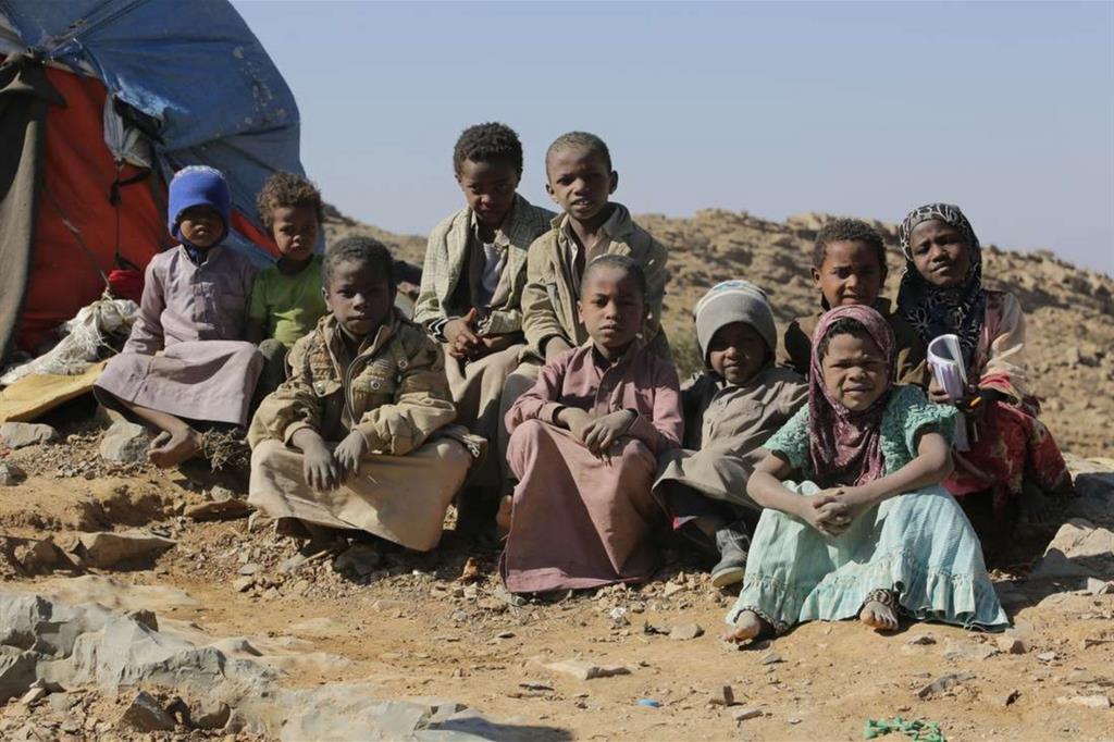 Raggazzini al campo profughi di Huth (Mohammed Al-Mekhlaf - Oxfam) -