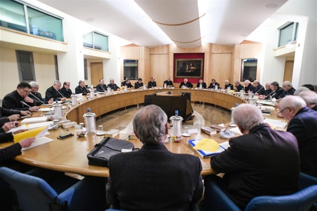 Il Consiglio permanente della Cei, lo scorso gennaio (Siciliani)
