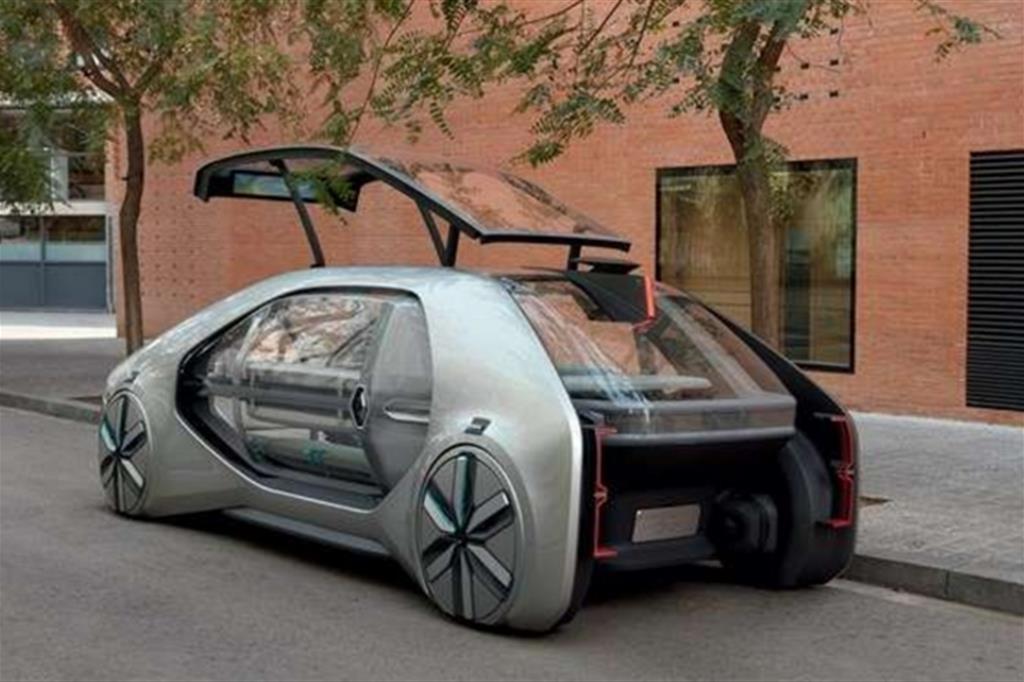 La Renault EZ-GO Concept, il veicolo robot del futuro: autonomo, elettrico e sempre connesso