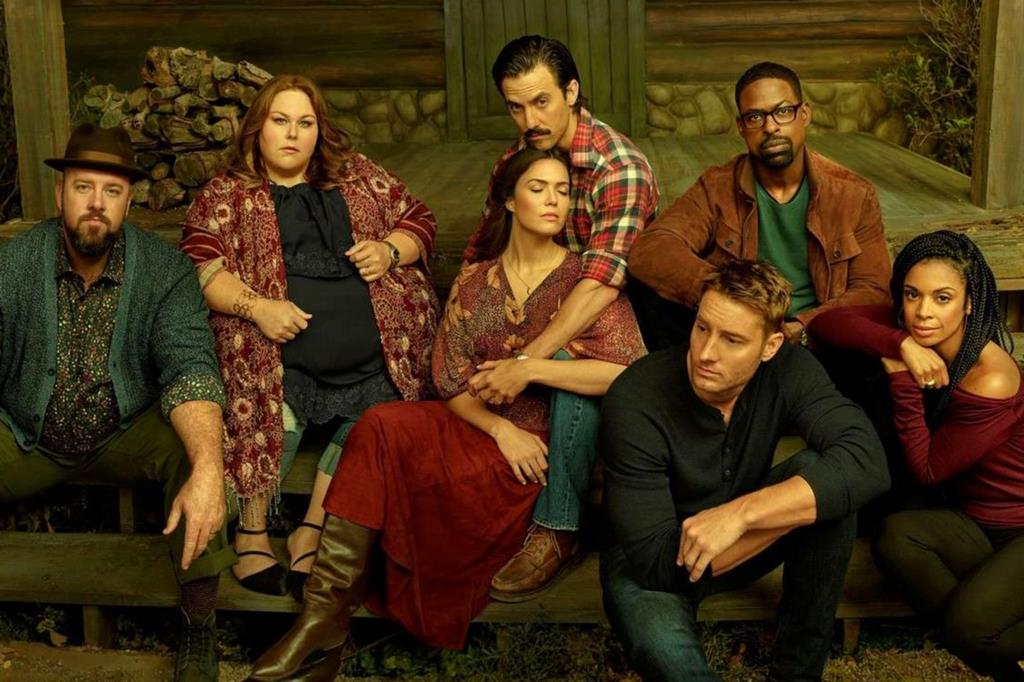 "il cast della serie televisiva ""This is us"", visibile su Amazon Prime e Fox Life"