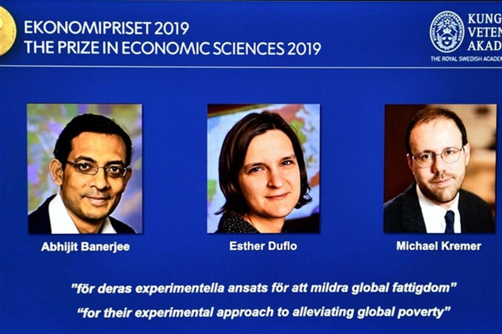 Nobel a tre economisti per ricerche sulla lotta alla povertà globale