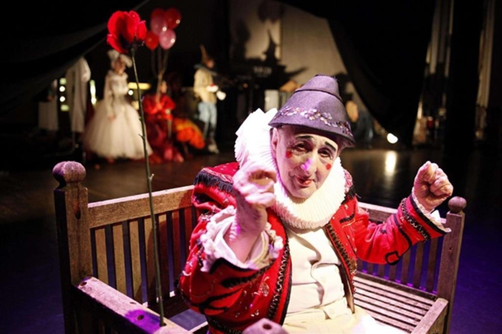 Bobò, l'attore sordomuto protagonista di una decina di spettacoli di Pippo Delbono, appena scomparso (foto Luca Del Pia)