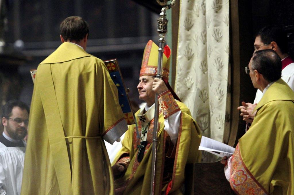 Milano: l'arcivescovo Delpini presiede in Duomo il Pontificale nella festa di san Carlo Borromeo (Fotogramma)