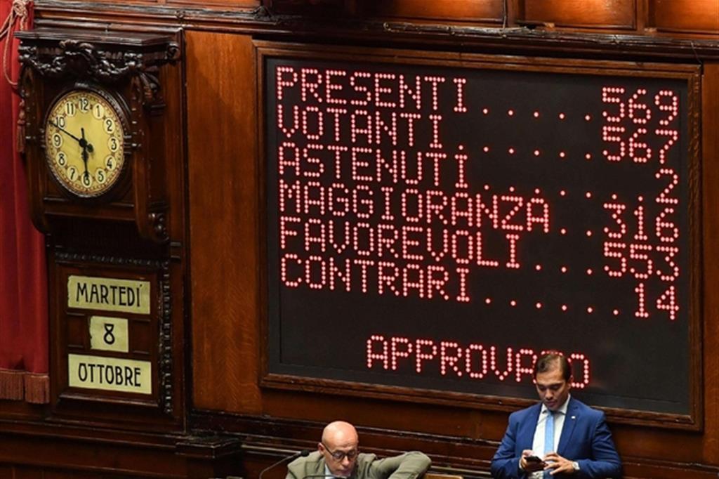 Ok definitivo dell'Aula della Camera al taglio dei parlamentari (Ansa)