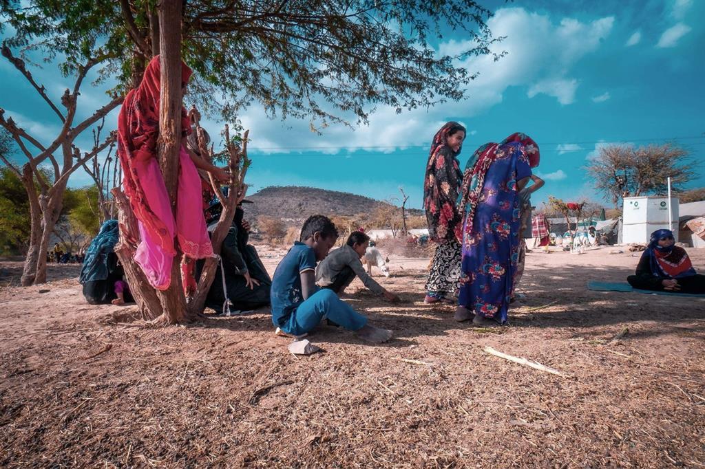 Le immagini si riferiscono al campo profughi di Jabal Zaid, in Yemen, dove opera Oxfam (Foto Oxfam) -