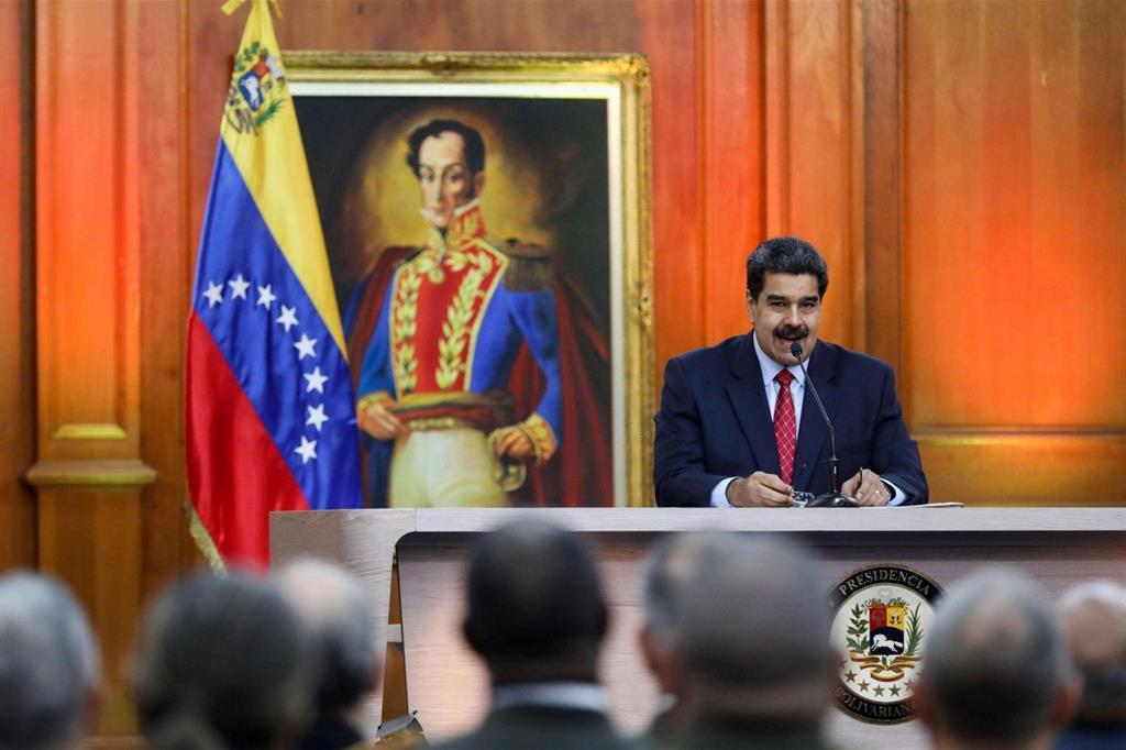 Il presidente venezuelano Nicolas Maduro (Ansa)