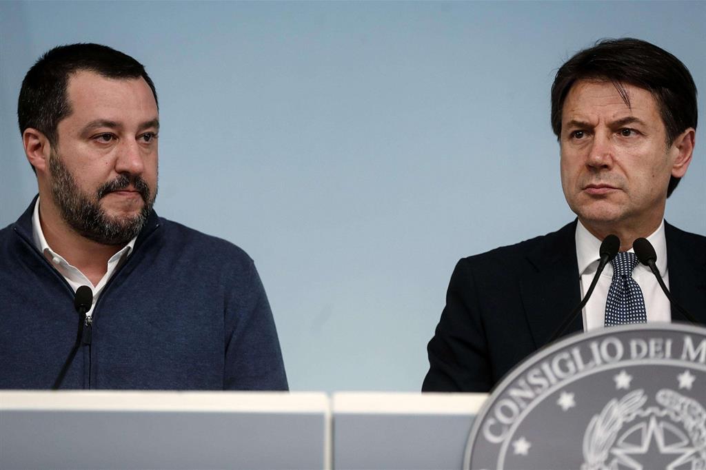 Salvini e Conte (Ansa)
