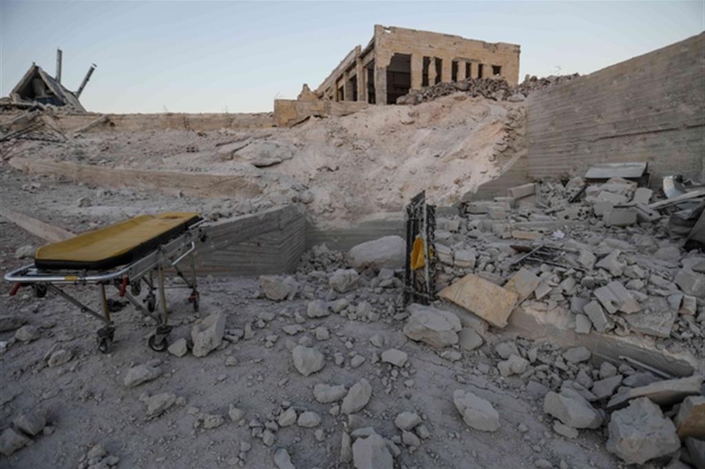 L'ospedale di Kafr Nabl, nella provincia di Idlib (LaPrese)