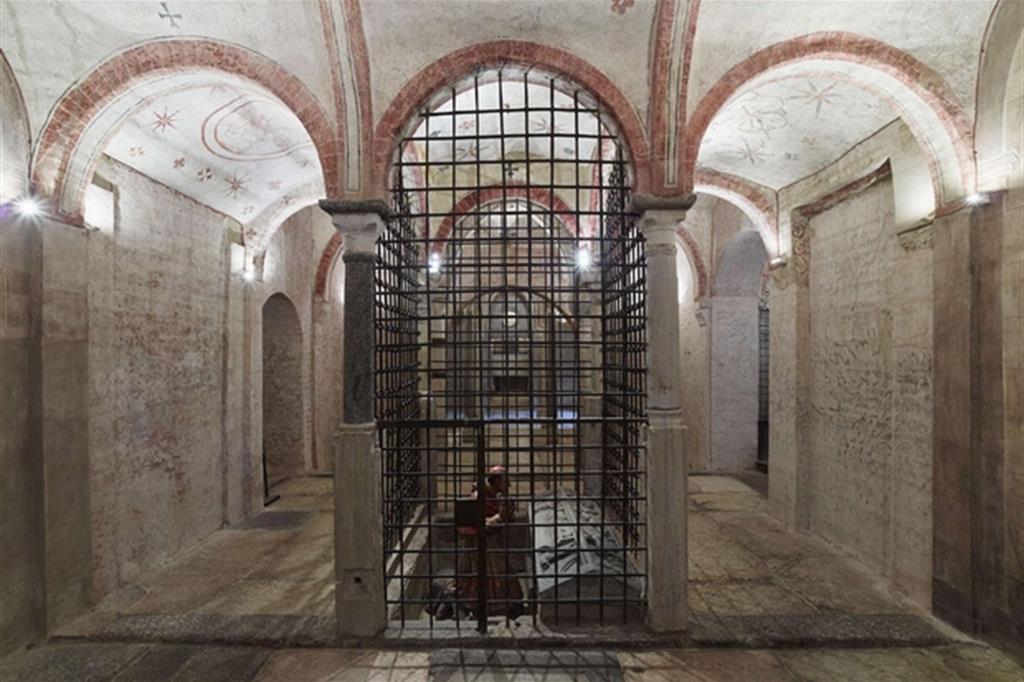 La cripta del Santo Sepolcro a Milano (Maurizio Montagna)