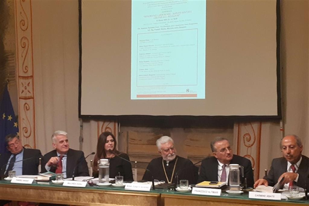 Un momento del convegno sulla minoranza Arberesh in Italia (foto Muolo)