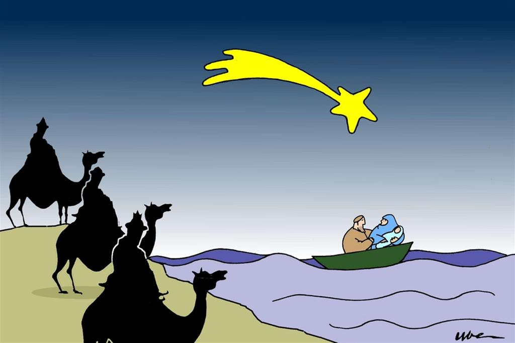 La Sacra Famiglia affronta il Mediterraneo come tante famiglie di oggi - Buduàr