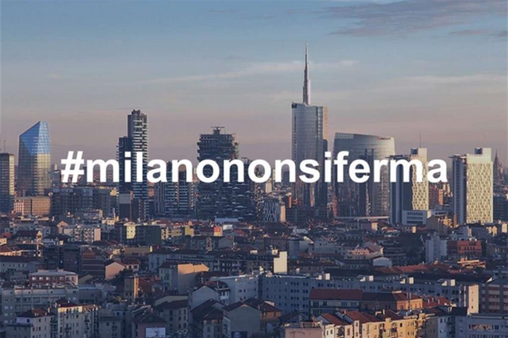 """""""Milano non si ferma"""": la campagna social contro la paura"""