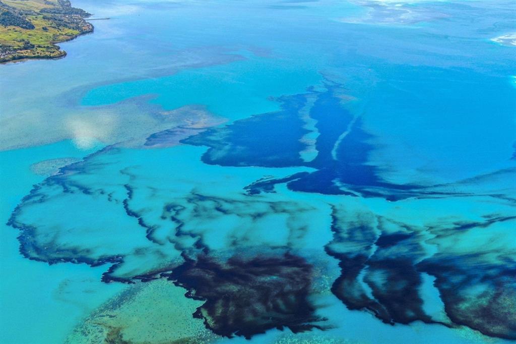 Chiazze nere che galleggiano su acque cristalline e minacciano paradisi di sabbia bianca: le immagini che arrivano da Mauritius sono quelle che nessuno avrebbe mai voluto vedere, e lasciano intravedere un enorme rischio ambientale, che rischia di trasformarsi in un vero e proprio disastro. - Ansa