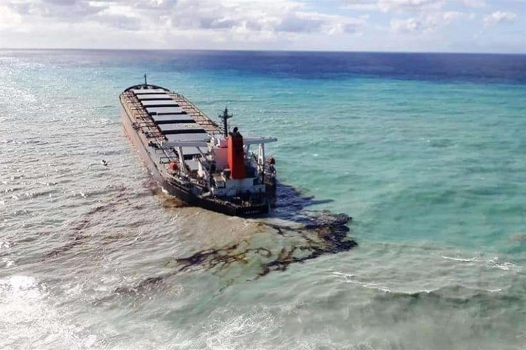 Secondo Greenpeace Africa, «migliaia di specie nelle lagune incontaminate di Blue Bay, Pointe d'Esny e Mahebourg rischiano di annegare nelle acque inquinate, con terribili conseguenze per l'economia, la sicurezza alimentare e la salute di Mauritius». - Ansa