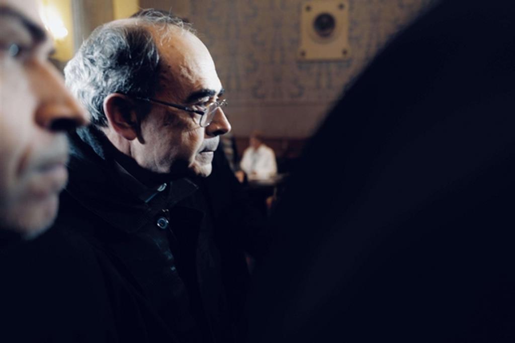 Il cardinale Barbarin al tribunale di Lione lo scorso 28 novembre