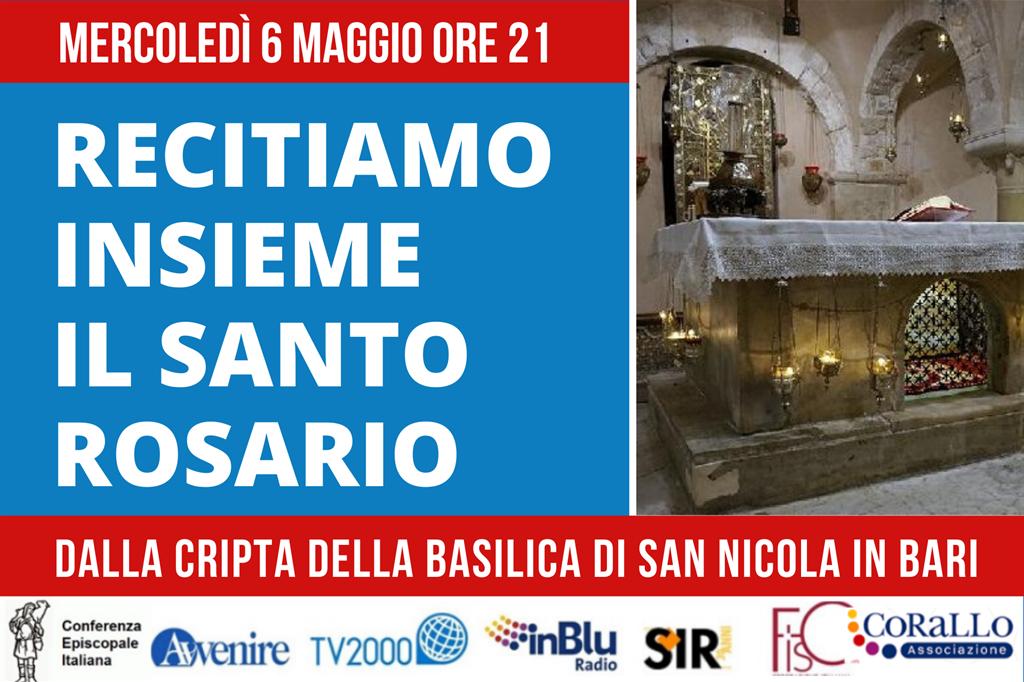 Cei, mercoledì 6 maggio il Rosario a Bari nella Basilica di San Nicola