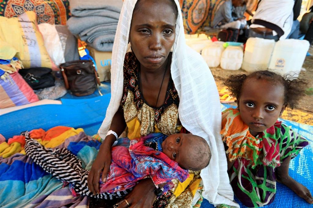 Rifugiati etiopi nell'area di confine con il Sudan
