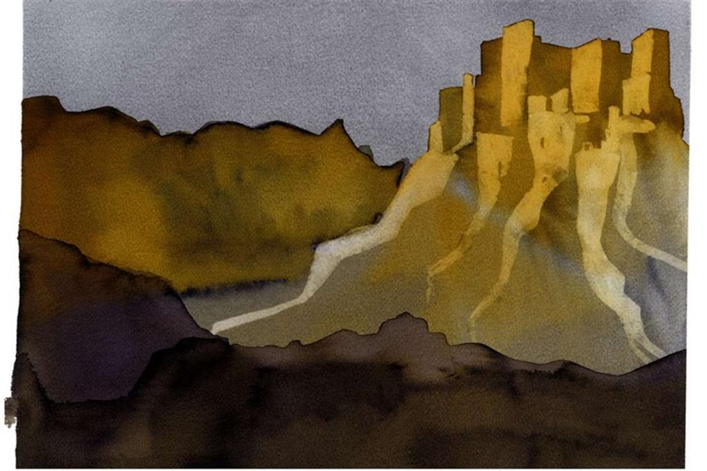 Una illustrazione di Lucia Scuderi per la 'Favola del castello senza tempo' (Bompiani)