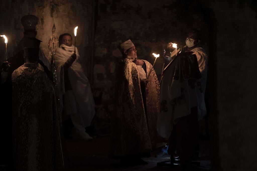 Deir es-Sultan, a Gerusalemme, Israele - Ansa
