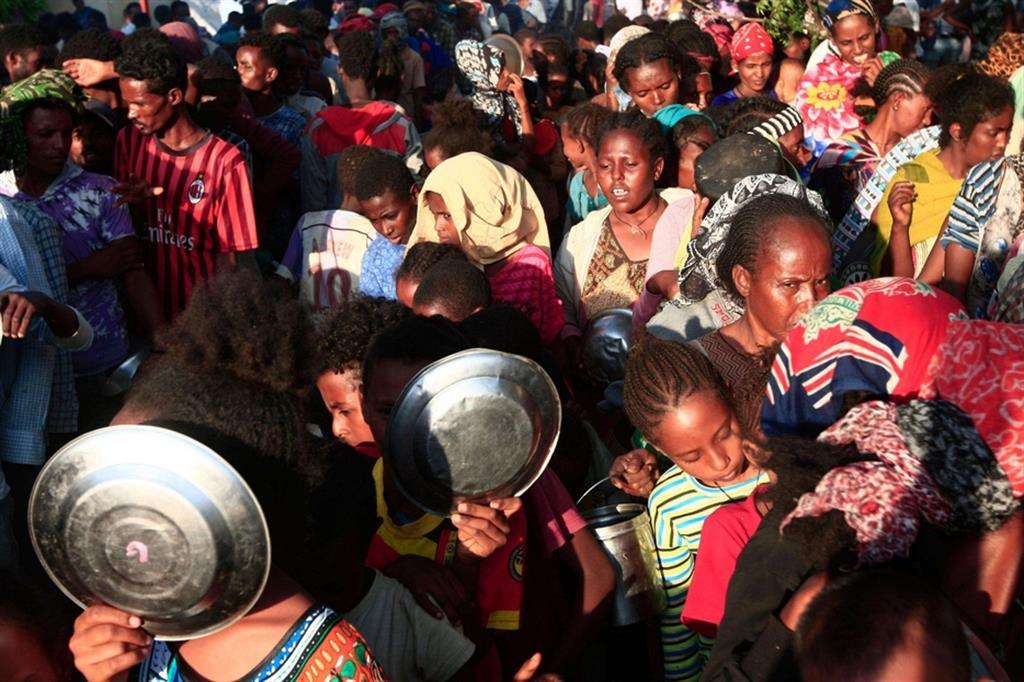 Secondo don Mosè Zerai almeno un terzo di loro sono eritrei in fuga dai 4 campi profughi che intorno a Scirè accolgono 100 mila persone fuggite in questi anni dall'Eritrea e che l'Acnur non riesce a raggiungere per il blocco delle strade. E se non torna la pace si dirigeranno verso la Libia - .