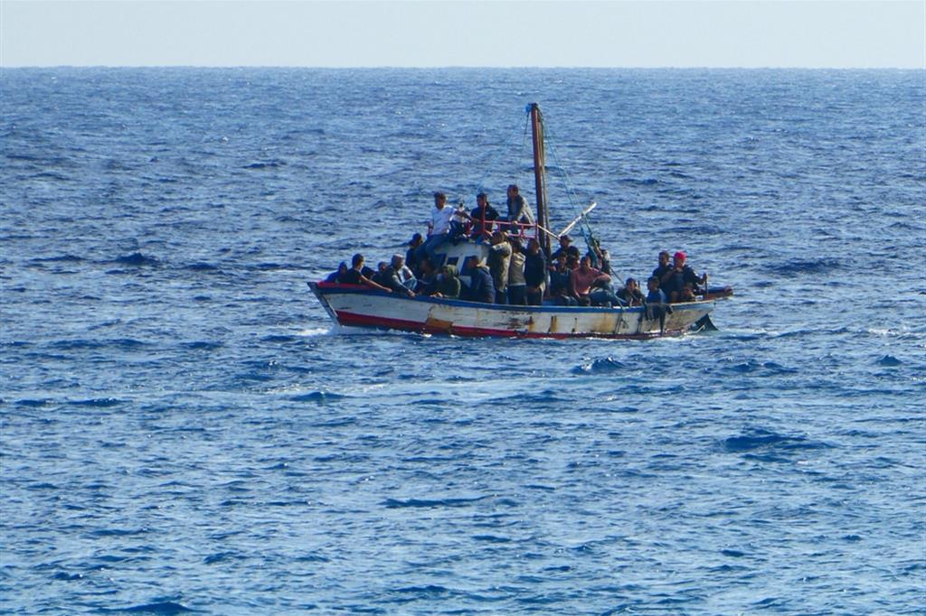 Migranti in una foto d'archivio