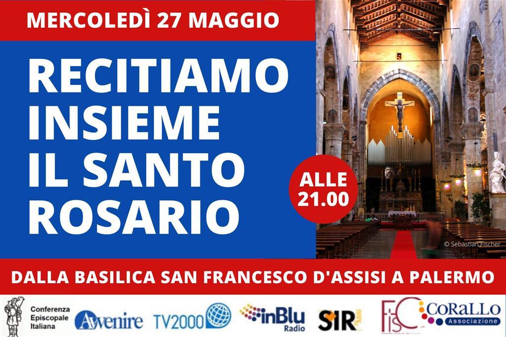 Il Rosario per l'Italia mercoledì 27 maggio da Palermo / IL LIBRETTO