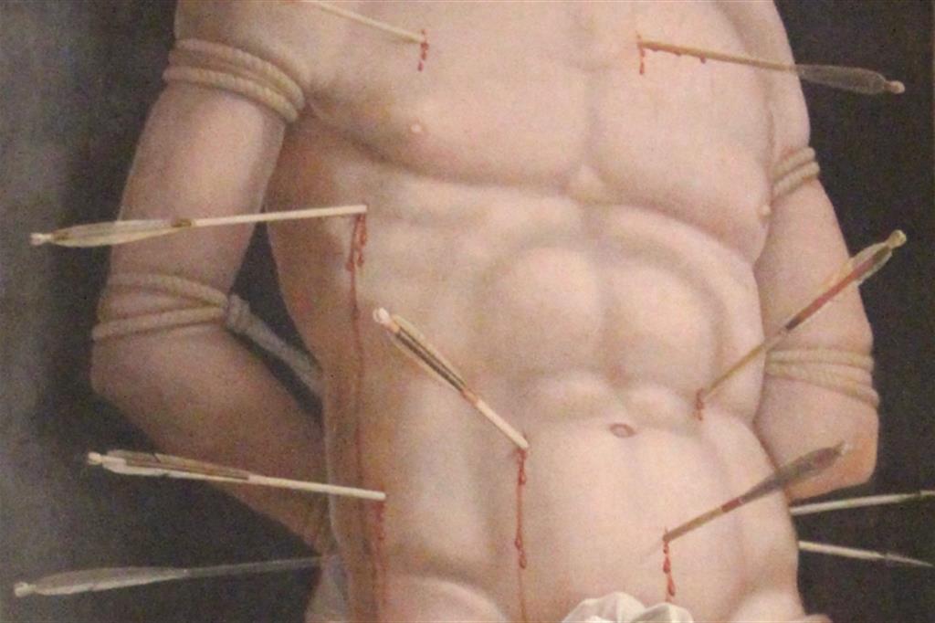 Andrea Mantegna, San Sebastiano, 1506, particolare