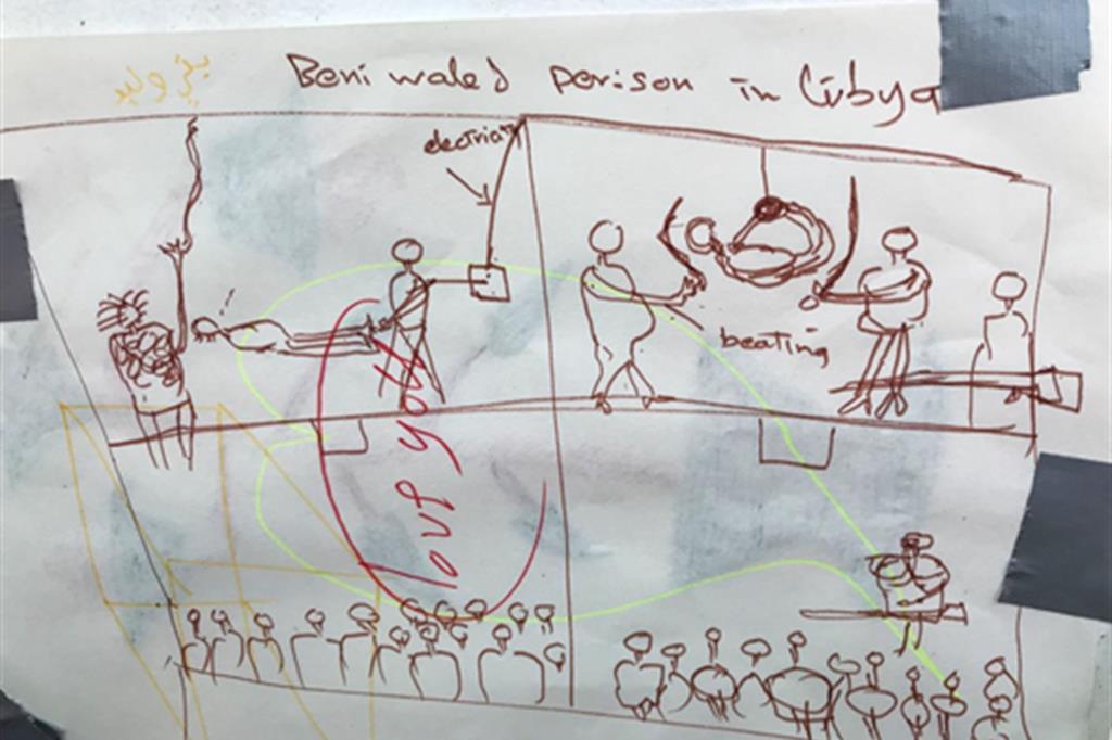 La descrizione delle torture a Bani Walid da parte di un migrante soccorso in mare nel settembre 2020