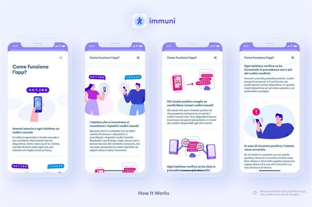 App Immuni, come apparirà sui nostri smartphone