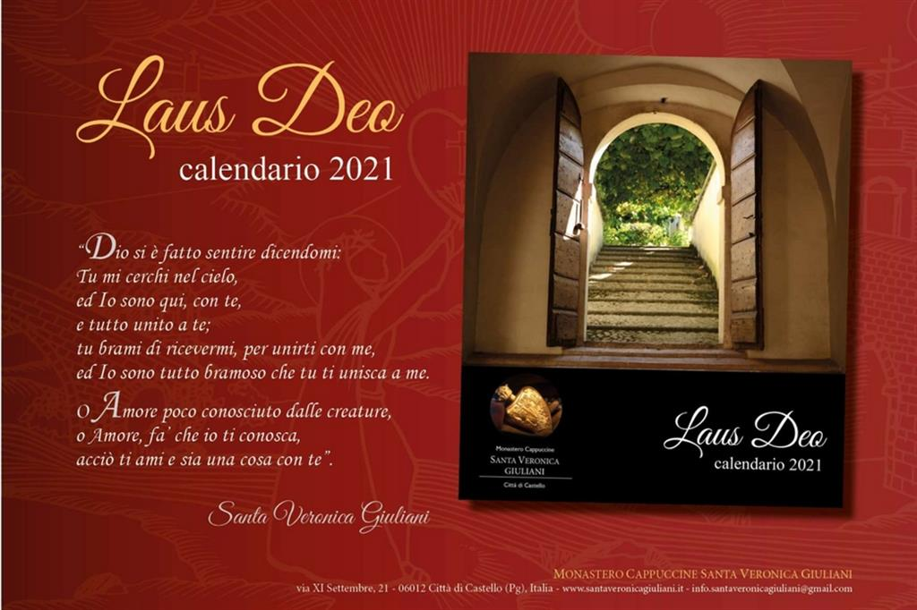 Laus Deo 2021, il calendario delle monache di clausura