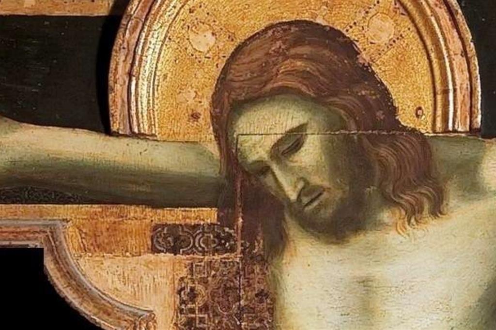 Particolare del Crocifisso di Giotto (1301-1302) conservato nel Tempio Malatestiano di Rimini
