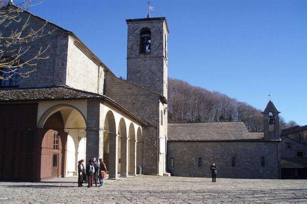Il santuario francescano de La Verna, in provincia di Arezzo