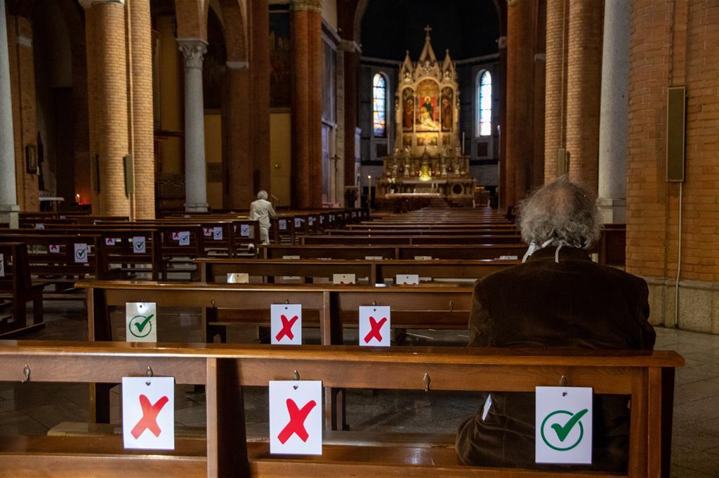 Una chiesa milanese ai tempi del coronavirus