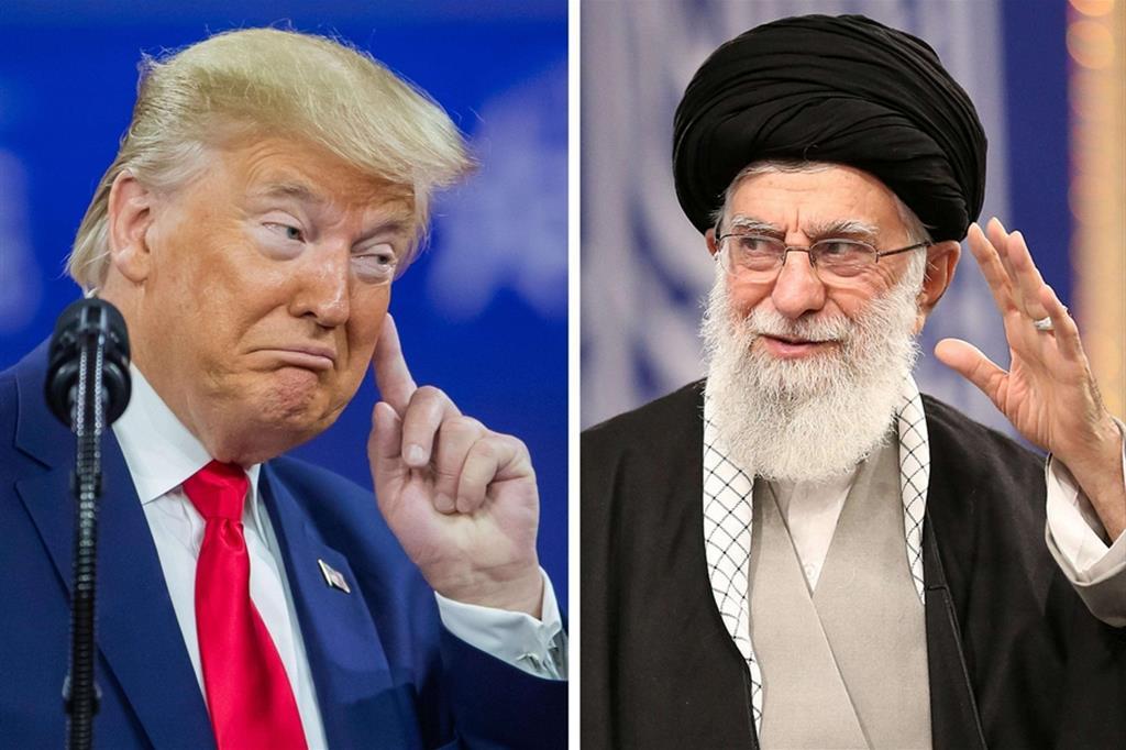 Il presidente Trump e l'Ayatollah Ali Khamenei