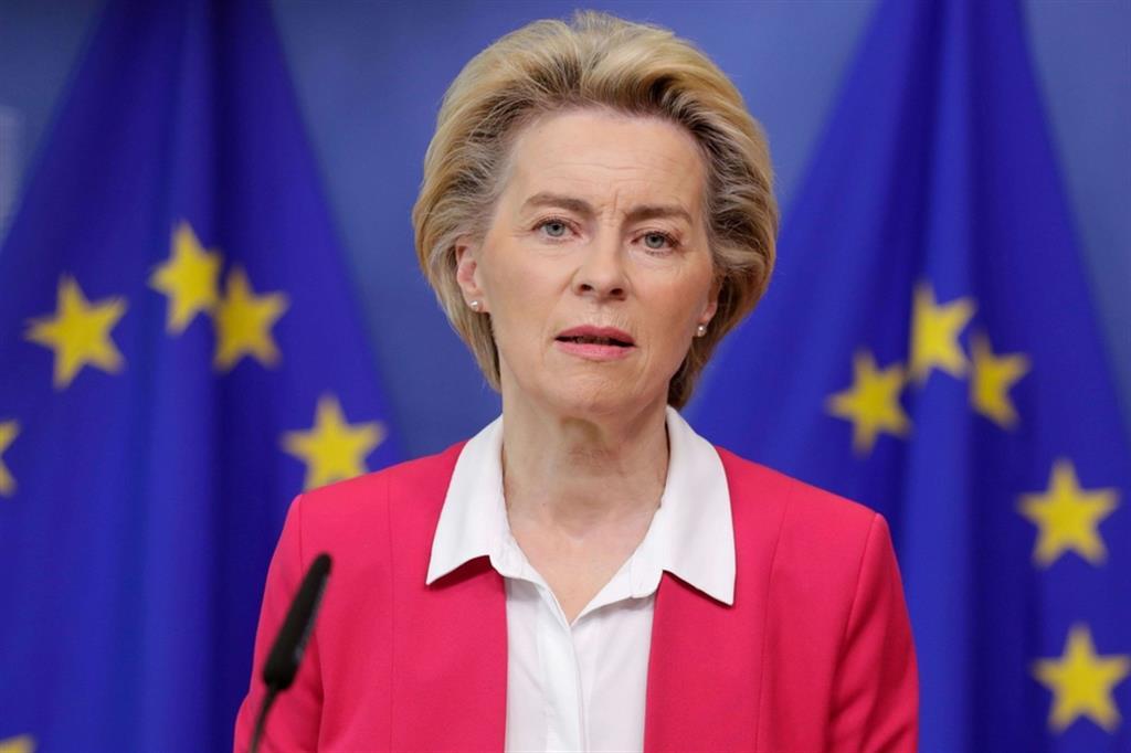 La presidente della Commissione Ue, Ursula von der Leyen
