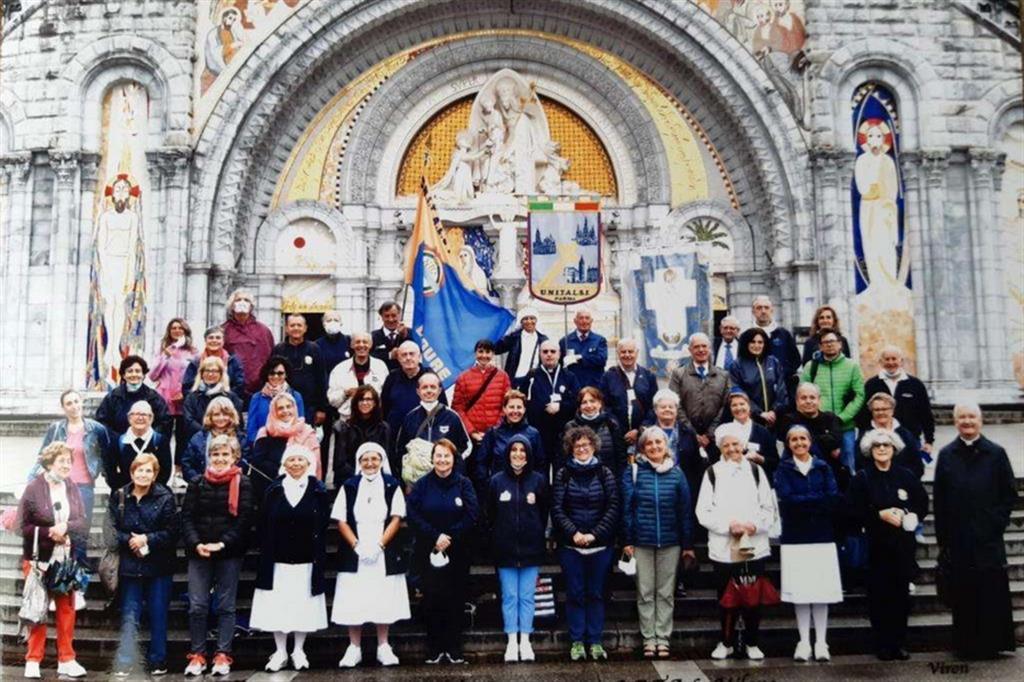 Un pellegrinaggio Unitalsi a Lourdes prima della pandemia