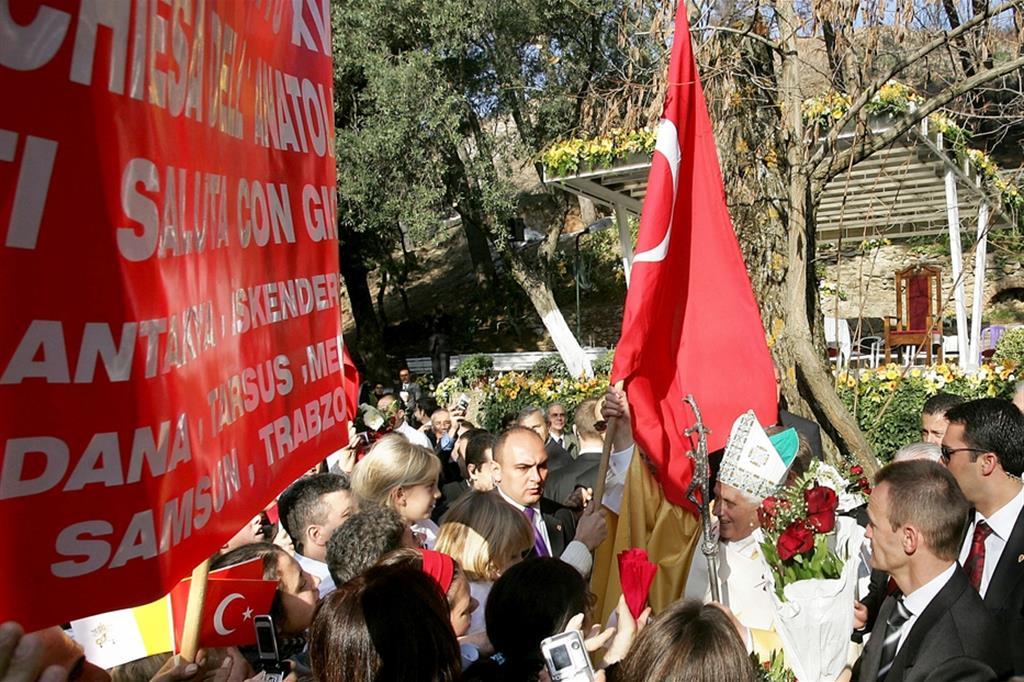 Benedetto XVI a Efeso nel 2006