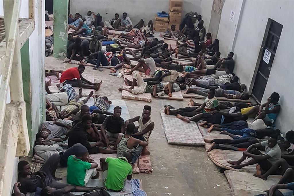 LIBIA, ZAWIYA, CENTRO DETENZIONE PROFUGHI