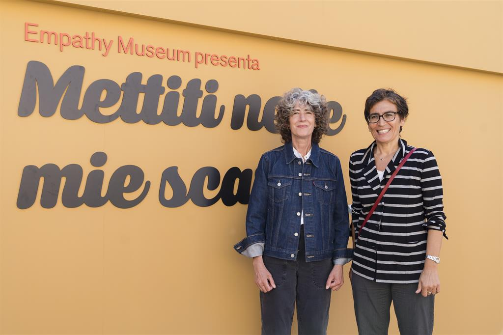 Clare Patey, direttrice dell'Empathy Museus, e Petra Mezzetti, presidente della Fondazione Empatia - Carmelo Farini / Visual Crew / PianoB