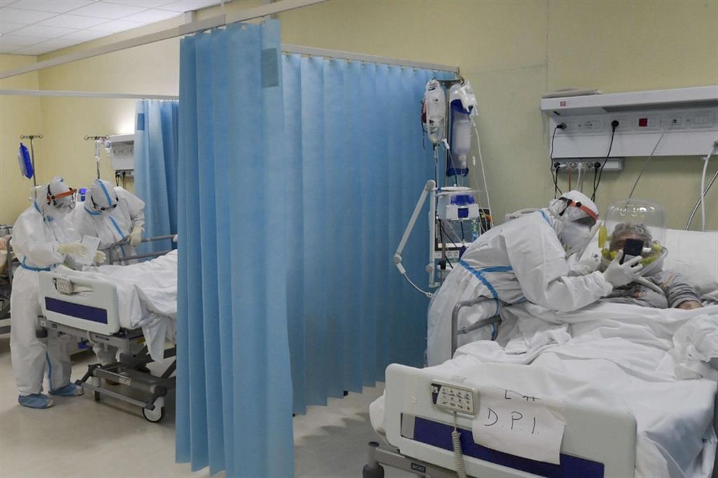 Pazienti in un reparto Covid