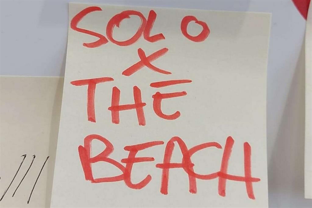 «Solo per the beach». Ovvero, «solo per andare in spiaggia» -