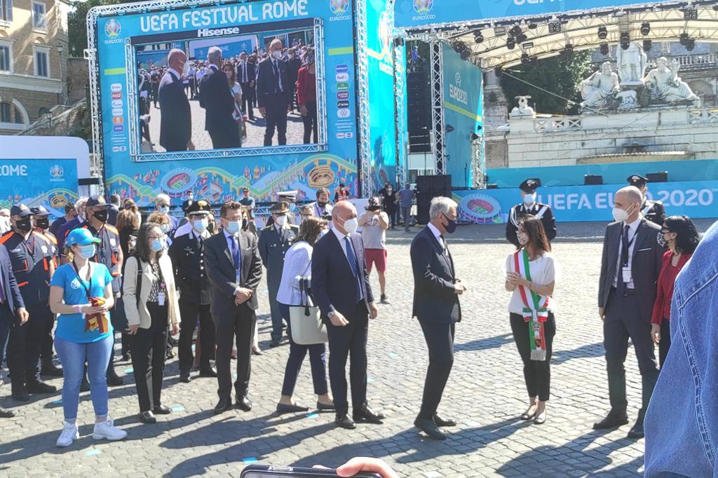 La sindaca di Roma Virginia Raggi inaugura la Fan Zone di Euro2020 - Agnese Palmucci