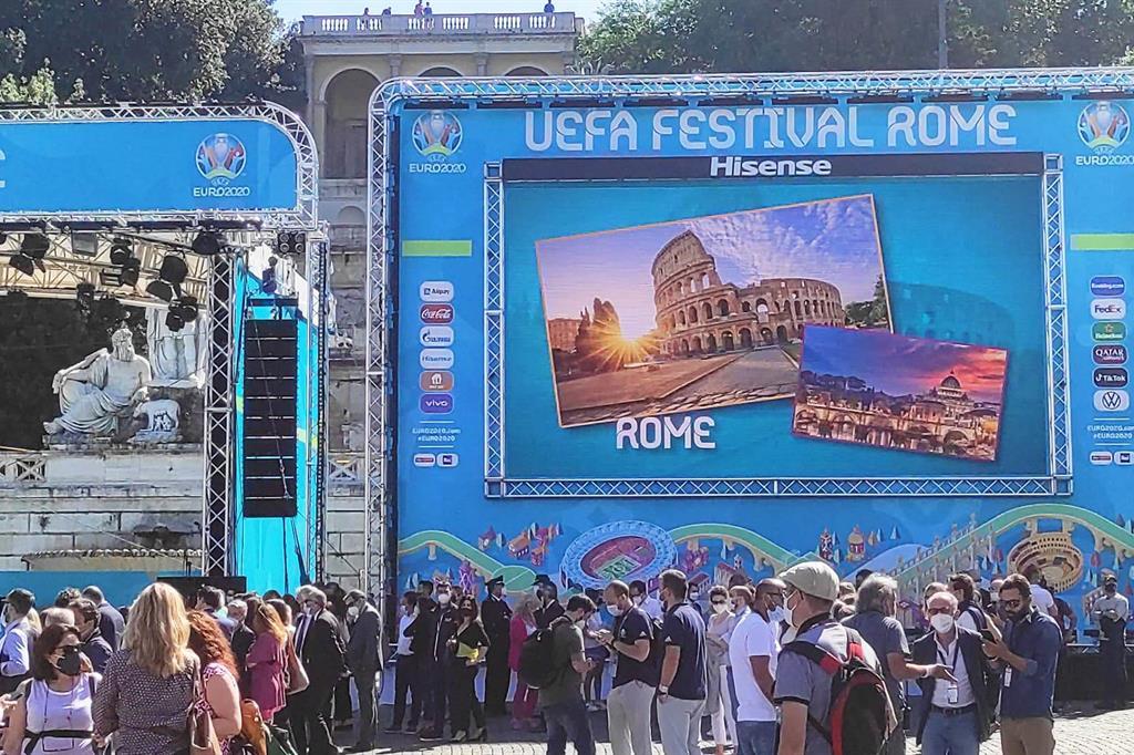 Inaugurazione della Fan Zone allestita per l'Europeo a piazza del Popolo (Roma) - Agnese Palmucci