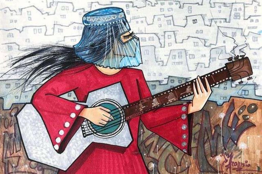 Ma chi è Shamsia Hassani? Nata in Iran nel 1988, dove i suoi genitori sono emigrati per via della guerra, Shamsia Hassani ha studiato arte all'Università di Kabul per poi diventare professoressa di scultura. Dal 2010 si è dedicata all'arte urbana. Ormai la capitale afghana è piena dei suoi toccanti graffiti in omaggio alle donne. - Shamsia Hassani (@shamsiahassani) - Instagram