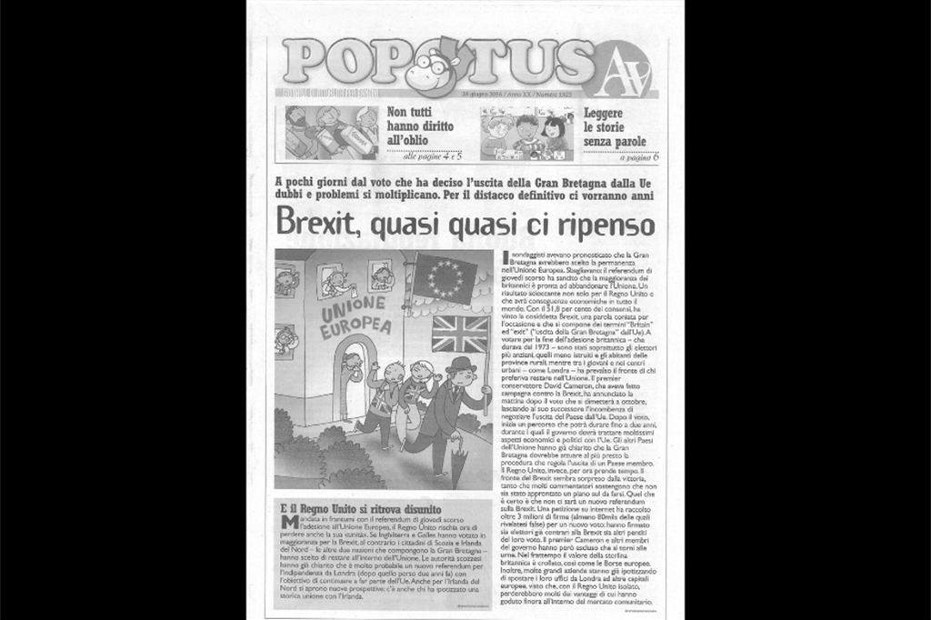 Il compleanno di Popotus, le prime pagine di 25 anni